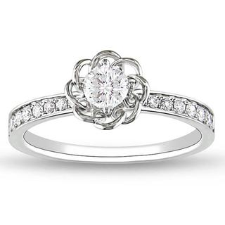 Miadora 14k White Gold 1/4ct TDW Diamond Ring (G-H, SI2)