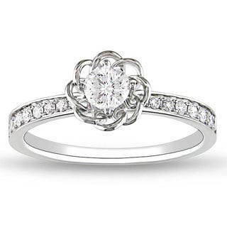 Miadora Signature Collection 14k White Gold 1/4ct TDW Diamond Ring (G-H, SI2)
