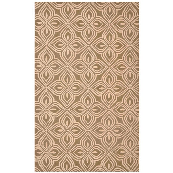 Hand-tufted Brown/ Pink Polyester Rug (2' x 3')