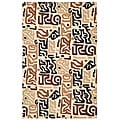 Hand-tufted Brown/ Black Abstract Rug (8' x 10')