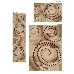 Virginia Ivory Spiral Rugs (Set of 3)