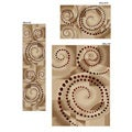 Virginia Ivory Spiral Rugs (Set of 3)