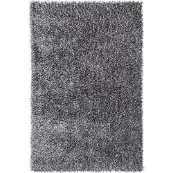 Hand-tufted Grey Shag Polyester Rug (7'6 x 9'6)