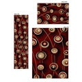 Virginia Red Contempo Rugs (Set of 3)