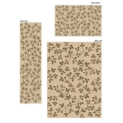 Virginia Floral Ivory Rugs (Set of 3)