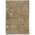Handwoven Brown Shag Accent Rug (2' x 3')