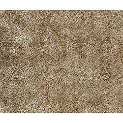 Hand-woven Brown Polyester Shag Rug (5' x 7' 6)