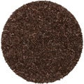 Hand-tied Pelle Dark Brown Leather Shag Rug (8' Round)