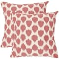 Romance 18-inch Rose Red Decorative Pillows (Set of 2)