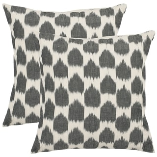 Moments 18-inch Charcoal Grey Decorative Pillows (Set of 2)