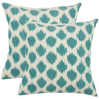 Oceans 22-inch Aqua Blue Decorative Pillows (Set of 2)