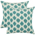 Oceans 22-inch Aqua Blue Decorative Pillows (Set of 2)