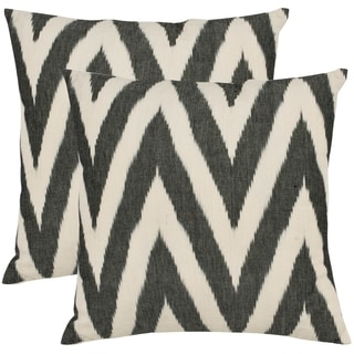 Deco 18-inch Charcoal Grey Decorative Pillows (Set of 2)