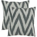 Deco 18-inch Silver Decorative Pillows (Set of 2)