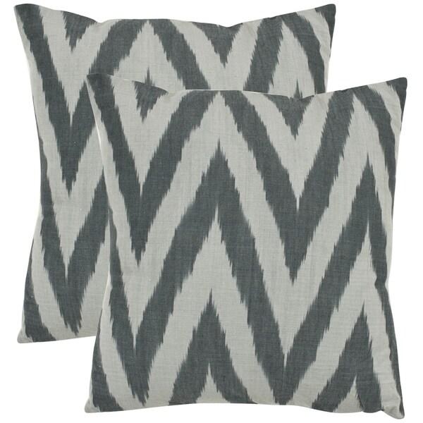 Safavieh Deco 18-inch Silver Decorative Pillows (Set of 2)