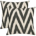 Deco 22-inch Charcoal Grey Decorative Pillows (Set of 2)