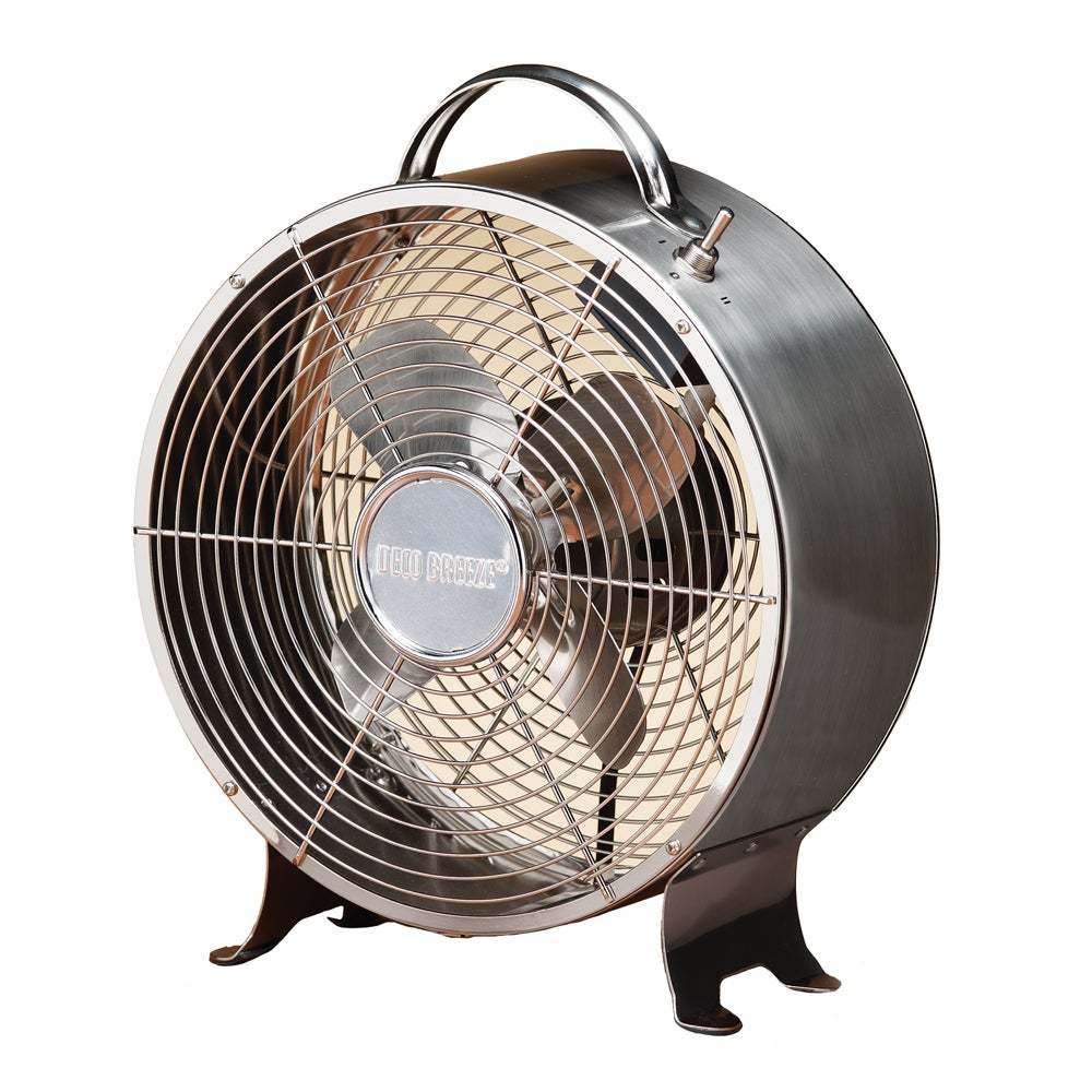 Deco Breeze DBF0641 9-inch Stainless Steel Retro Fan