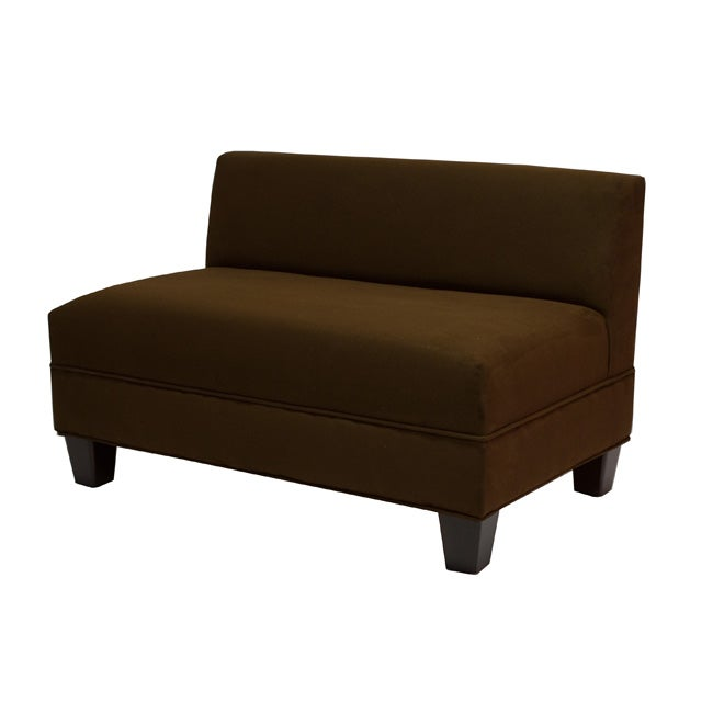Makenzie Chocolate Brown Loveseat Overstock Shopping Great Deals On Sofas Loveseats
