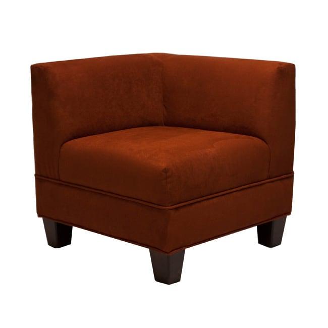 Makenzie Crimson Corner Chair
