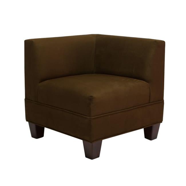 Makenzie Chocolate Corner Chair 13657027 Overstock Com