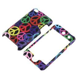 Black Rainbow Peace Sign Case for Apple iPod touch 4th Gen