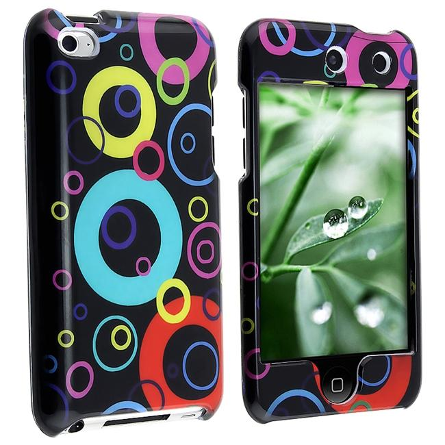 Black/ Rainbow Bubble Case for Apple iPod touch 4th Gen