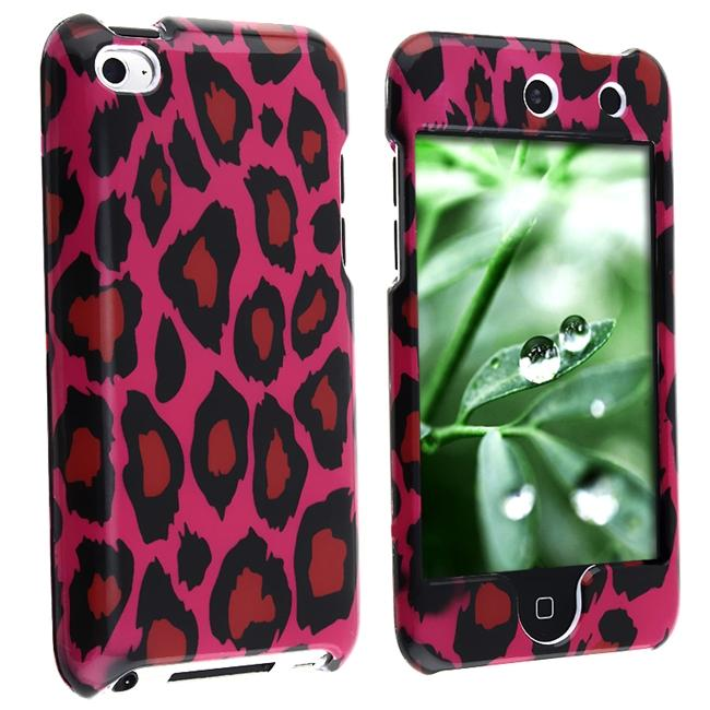 INSTEN Hot Pink Leopard iPod Case Cover for Apple iPod touch 4th Gen