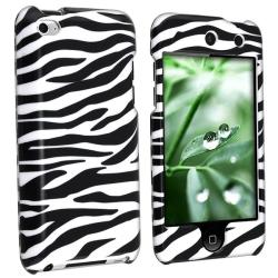 INSTEN White/ Black Zebra iPod Case Cover for Apple iPod touch 4th Gen