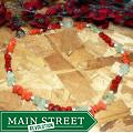 Susen Foster Silverplated 'Fruit Salad' Coral/ Jade/ Prehnite Necklace