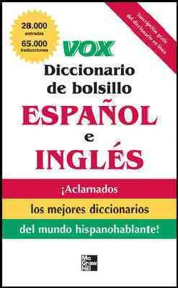 Vox diccionario de bolsillo espanol y ingles / Vox Pocket Dictionary English and Spanish