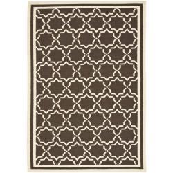 Safavieh Hand-woven Moroccan Reversible Dhurrie Chocolate/ Ivory Wool Rug (4' x 6')