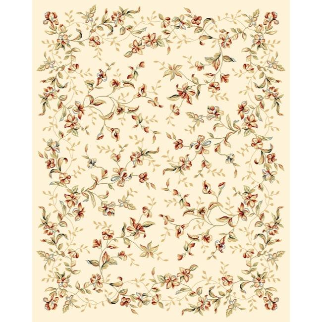 Safavieh Lyndhurst Collection Floral Beige Rug (9' x 12')