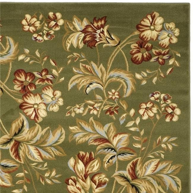 Lyndhurst Collection Floral Sage Rug (9' x 12')
