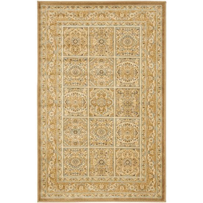 Safavieh Paradise Mahal Beige Viscose Rug (5'3 x 7'6)