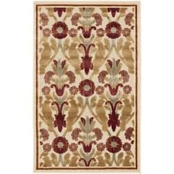 Paradise Garden Bird on a Branch Cream Viscose Rug (7'10' x 11'2)