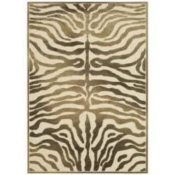Paradise Tiger Strip Cream Viscose Rug (2'7 x 4')
