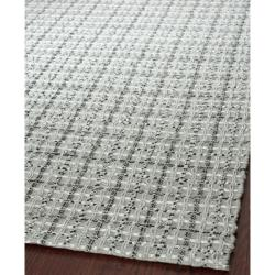 Handmade South Hampton Basketweave Silver Rug (4' x 6')