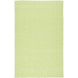 Handmade Thom Filicia Ackerman Key Lime Green Rug (6' x 9')