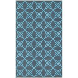 Handmade Thom Filicia Tioga Spray/ Blue Outdoor Rug (2' x 8')