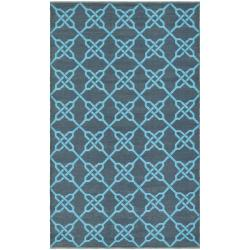 Handmade Thom Filicia Tioga Spray/ Blue Outdoor Rug (4' x 6')