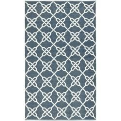Handmade Thom Filicia Tioga Ink Blue Outdoor Rug (2' x 8')