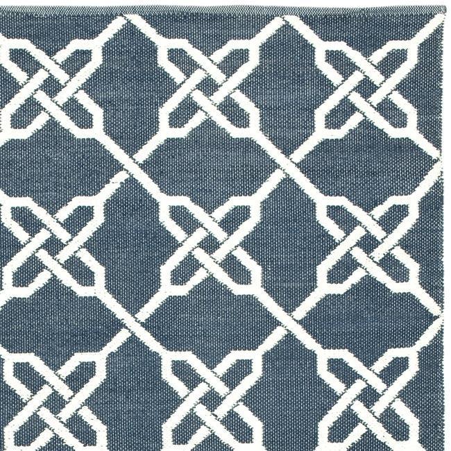 Handmade Thom Filicia Tioga Ink Blue Outdoor Rug (4' x 6')