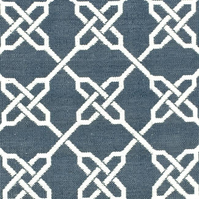 Handmade Thom Filicia Tioga Ink Blue Outdoor Rug (5' x 8')