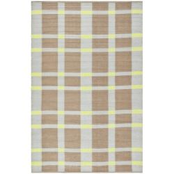 Handmade Thom Filicia Chatam Lawn Green Outdoor Rug (2' x 8')