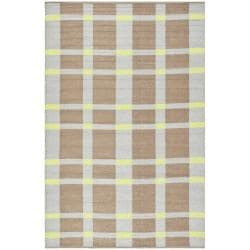 Handmade Thom Filicia Chatam Lawn Green Outdoor Rug (4' x 6')
