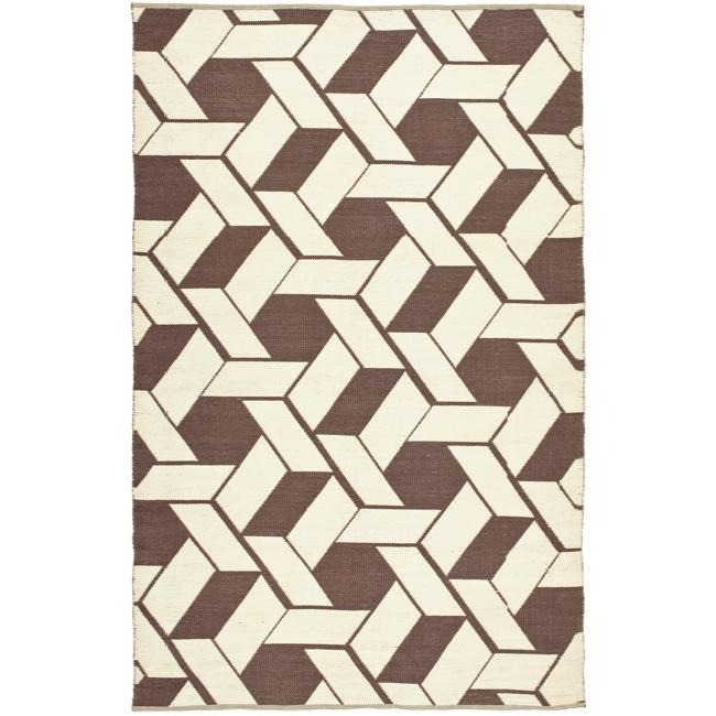 Handmade Thom Filicia Durston Saddle Outdoor Rug (4' x 6')