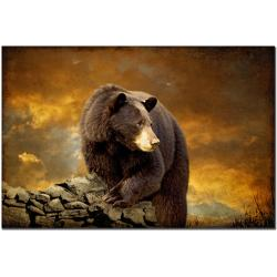 Lois Bryan 'The Bear Went Over the Mountain' Canvas Art