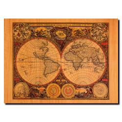 Michelle Calkins 'World Map' Canvas Art
