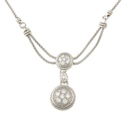 La Preciosa Sterling Silver Circles Cubic Zirconia Necklace