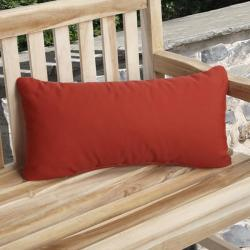 Charisma Outdoor Red Pillow Made with Sunbrella